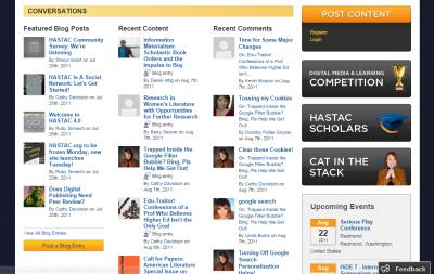 hastac screenshot 2011