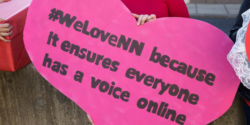 """#WeLoveNN because it ensures everyone has a voice online"""